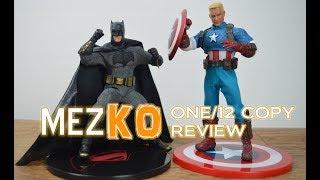 Bootleg One 12 MezKO / Mezco Batman and Captain America