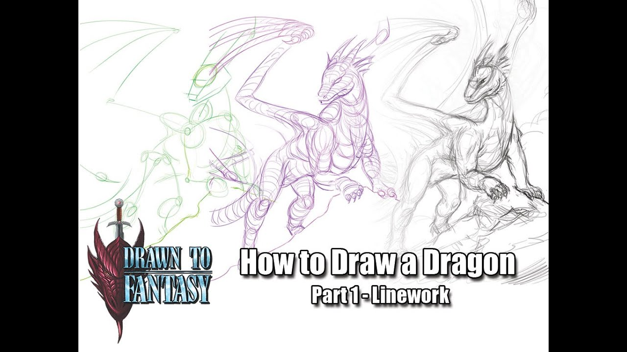 how to draw dragon features