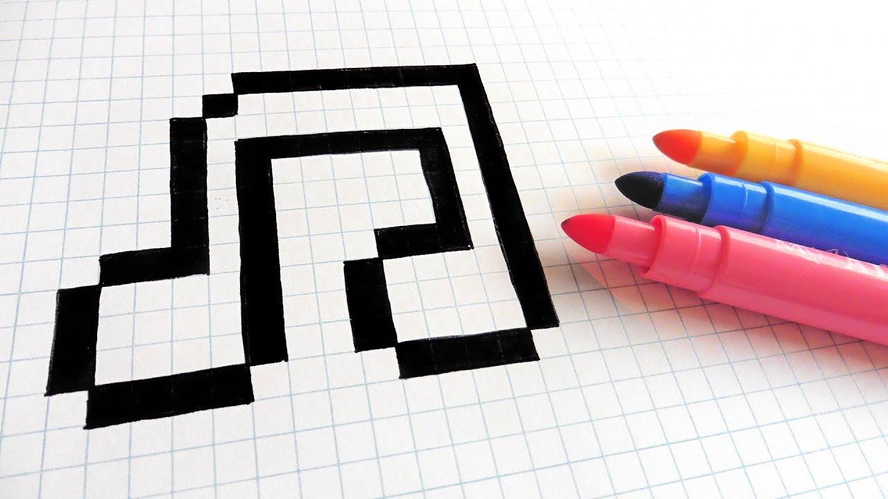 Handmade Pixel Art - How To Draw Music #pixelart - YouTube