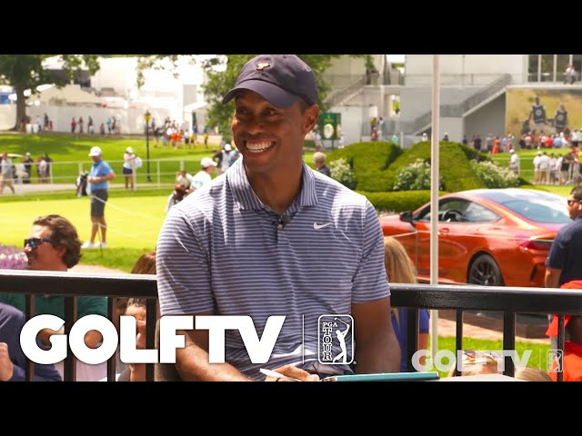 Tiger Woods plays 'Know Your Stats'