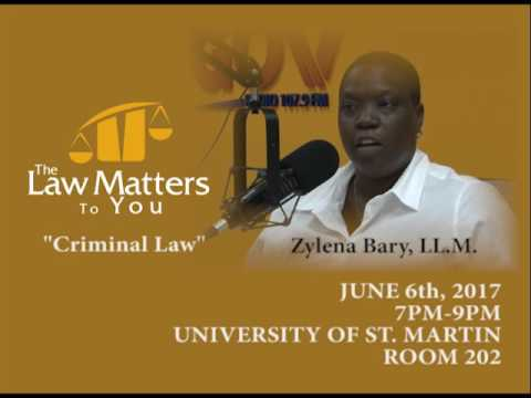 "LAW MATTERS TO YOU ""CRIMINAL LAW"" PROMO"