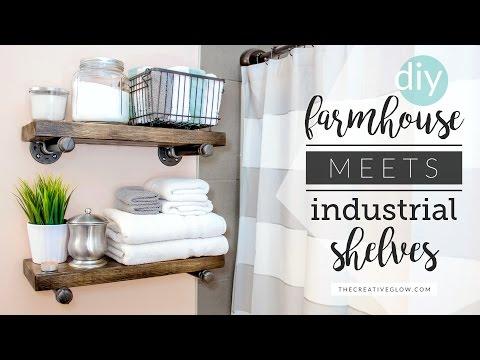 DIY Farmhouse Meets Industrial Shelving