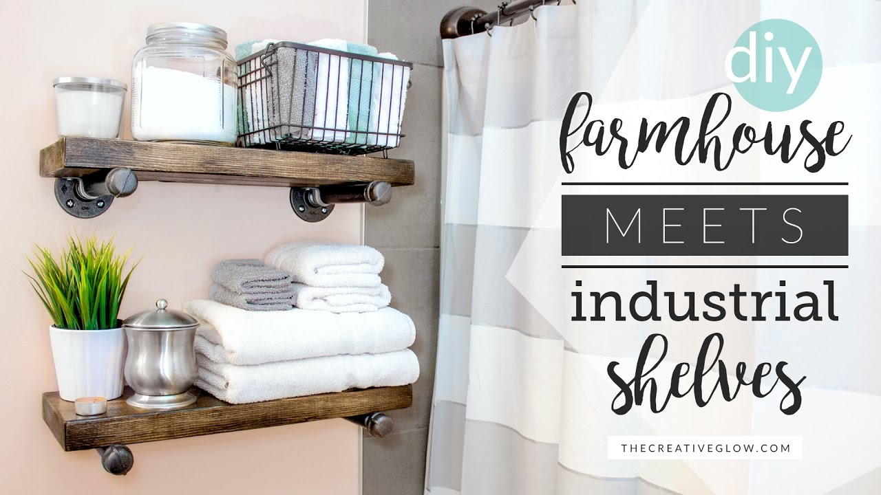 DIY Farmhouse Meets Industrial Shelving