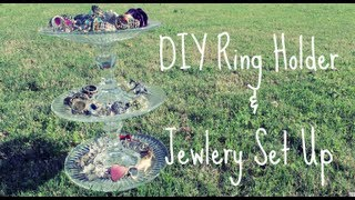 Diy Ring Holder And Jewlery Set Up