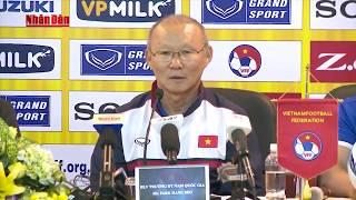 HLV trưởng Park Hang Seo trả lời báo chí về kết quả thi đấu tại VCK U23 châu Á 2018