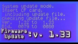 TASCAM SS-R100: Firmware Update- v. 1.33