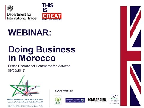 Britcham WEBINAR - Doing business in Morocco