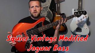 Squier Vintage Modified Jaguar Bass Special SS Review Demo