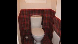 Дизайн туалета в шотландку(Дизайн туалета плиткой под шотландку не осовсем обычное решение, но выглядит великолепно. На задней стенке..., 2013-07-26T08:48:00.000Z)