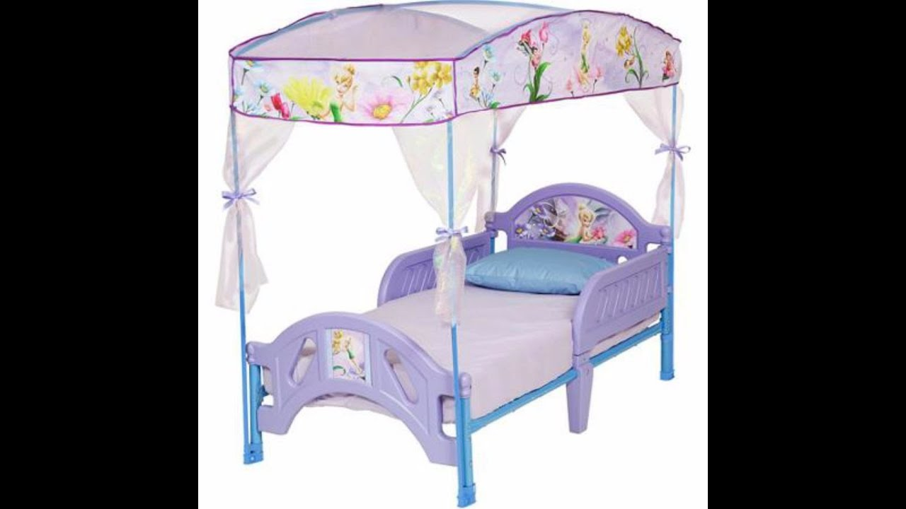sc 1 st  YouTube & Tinkerbell Canopy Toddler Bed - YouTube