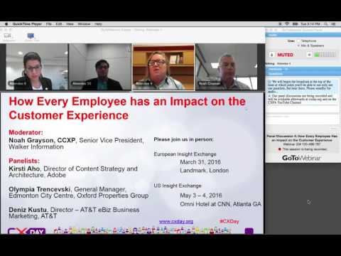 CX Day 2015 North America Panel How Every Employee Has an Impact on the Customer Experience