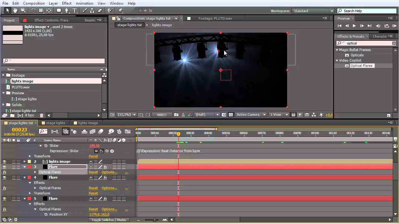 Stage lighting in after effects cs4 youtube - Stage Lights Tutorial