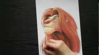 How to draw a lion ftom The Lion King. Рисуем льва. Урок рисования(Как нарисовать льва из мультика Король Лев. Song : Flying-while-weeping Music by Dan-O at DanoSongs.com., 2012-06-28T02:32:58.000Z)
