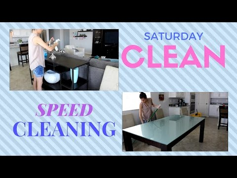 SPEED CLEANING ON A SATURDAY | STAY AT HOME MOM | CASUAL SPEED CLEANING