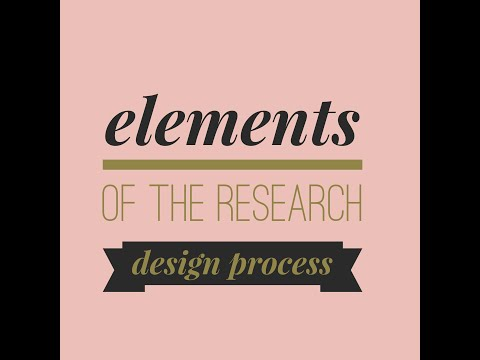 Elements of the Research Design Process