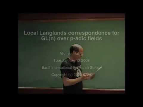"""Local Langlands correspondence for GL_n over p-adic fields"" Michael Harris [2008]"