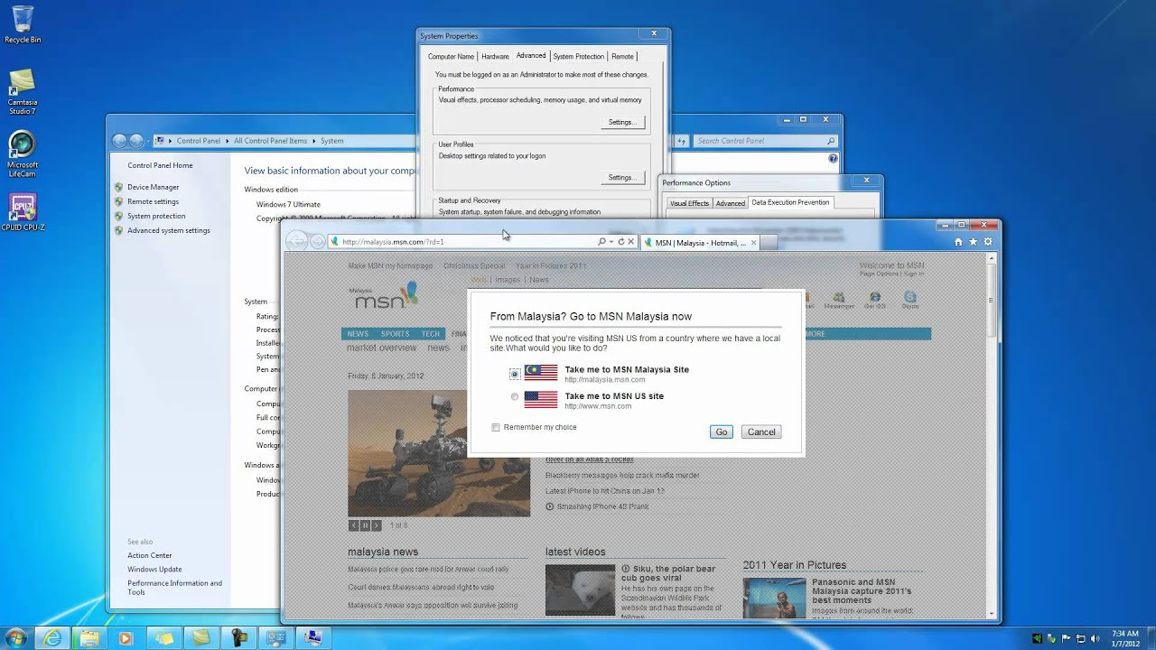 How to disable dep in Windows 7