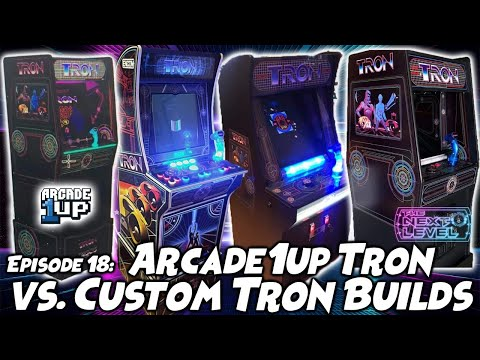 Arcade1Up Tron LEAK E3 vs. Custom 3/4 Tron Builds (The Next Level: Ep 18) from Kongs-R-Us