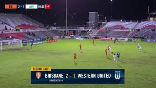 A-League 2020/21: Matchweek 19 - Brisbane Roar FC v Western United FC (2nd Half)