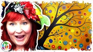 Video How to paint | Abstract Bohemian Tree | Acrylic  for Beginners download MP3, 3GP, MP4, WEBM, AVI, FLV Agustus 2018