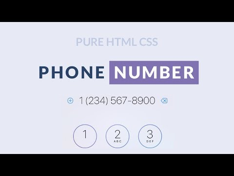 HTML CSS Tutorial - Coding Phone Number Style