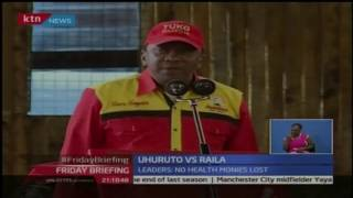 President Uhuru Kenyatta accused opposition leaders of thriving on propaganda to discredit Jubilee