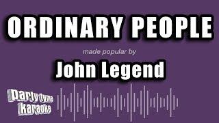 John Legend - Ordinary People (Karaoke Version)