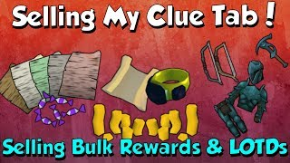 Selling My Clue Loot Tab! [Runescape 3] How much did the bulk items add up to?