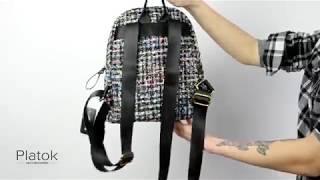видео Стильный городской рюкзак из ткани