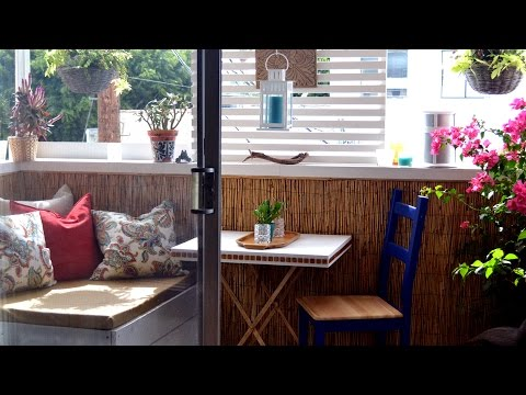 How to decorate a small rental apartment balcony la for Small balcony ideas on a budget