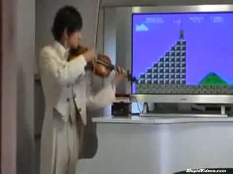 Most Epic Freestyle Violin Player To Mario Game