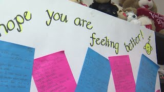 Fifth graders do their part to cheer up sick teacher