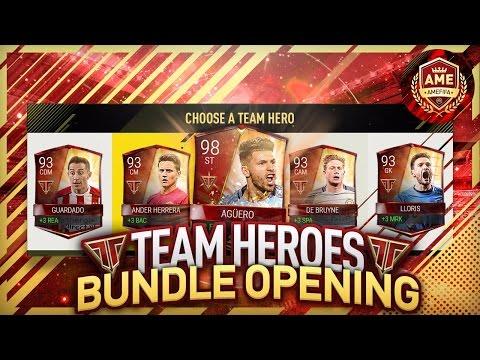 FIFA Mobile NEW 93 OVR TEAM HEROES!! TEAM HEROES BUNDLE + PACK OPENING...NEW TEAM HERO PULL!