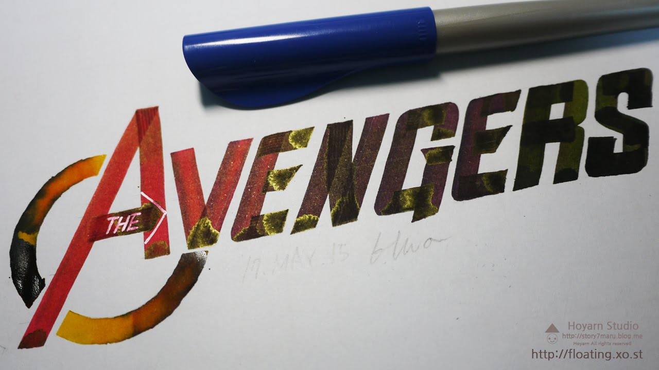 39 39 hand drawn 39 the avengers 39 pilot parallel Pilot parallel calligraphy pen