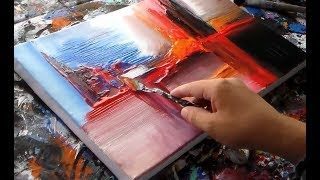 "Abstract painting demonstration / Abstract art / ""R-12 by Roxer Vidal"""