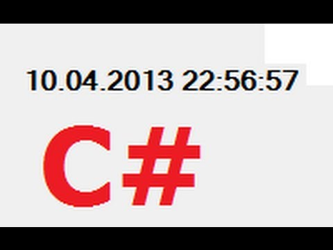 C# Tutorial 16:  Dynamically Display (Running) Current Date Time