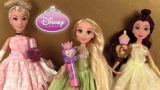 Princesses Disney Poupées Hasbro Paillettes Maquillage de Cendrillon, Raiponce, Belle