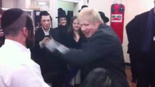 Boris Johnson at the quick fit gym in Stamford hill