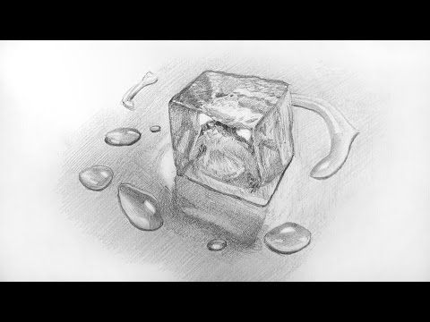 How to Shade an Ice Cube (& Water Drops) ✔