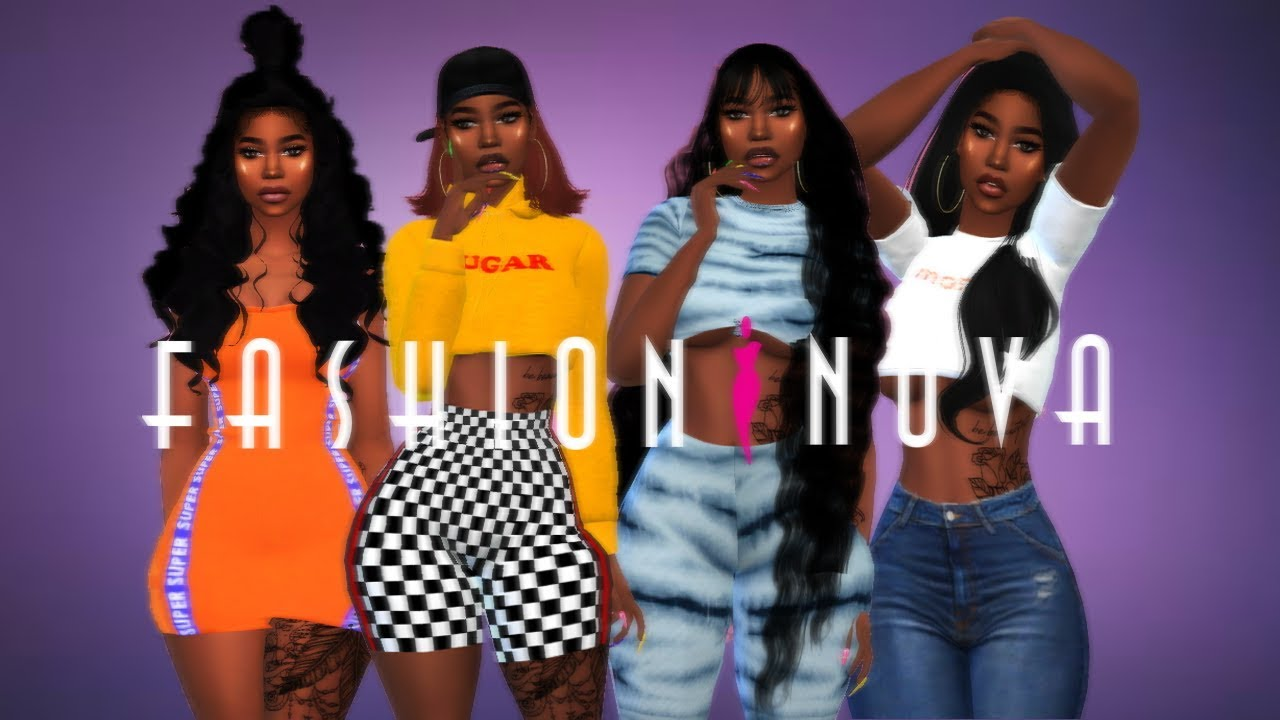 Sims 4 Cas Fashion Nova Collection W Cc Clothing Links Youtube