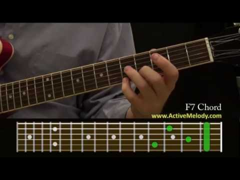 How To Play An F7 Chord On The Guitar Youtube