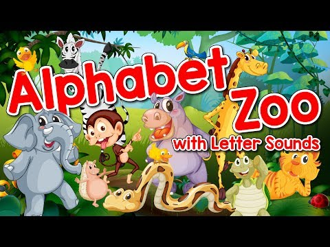 Alphabet Zoo | Alphabet & Letter Sounds for Kids | Phonics Song | Kindergarten | Jack Hartmann