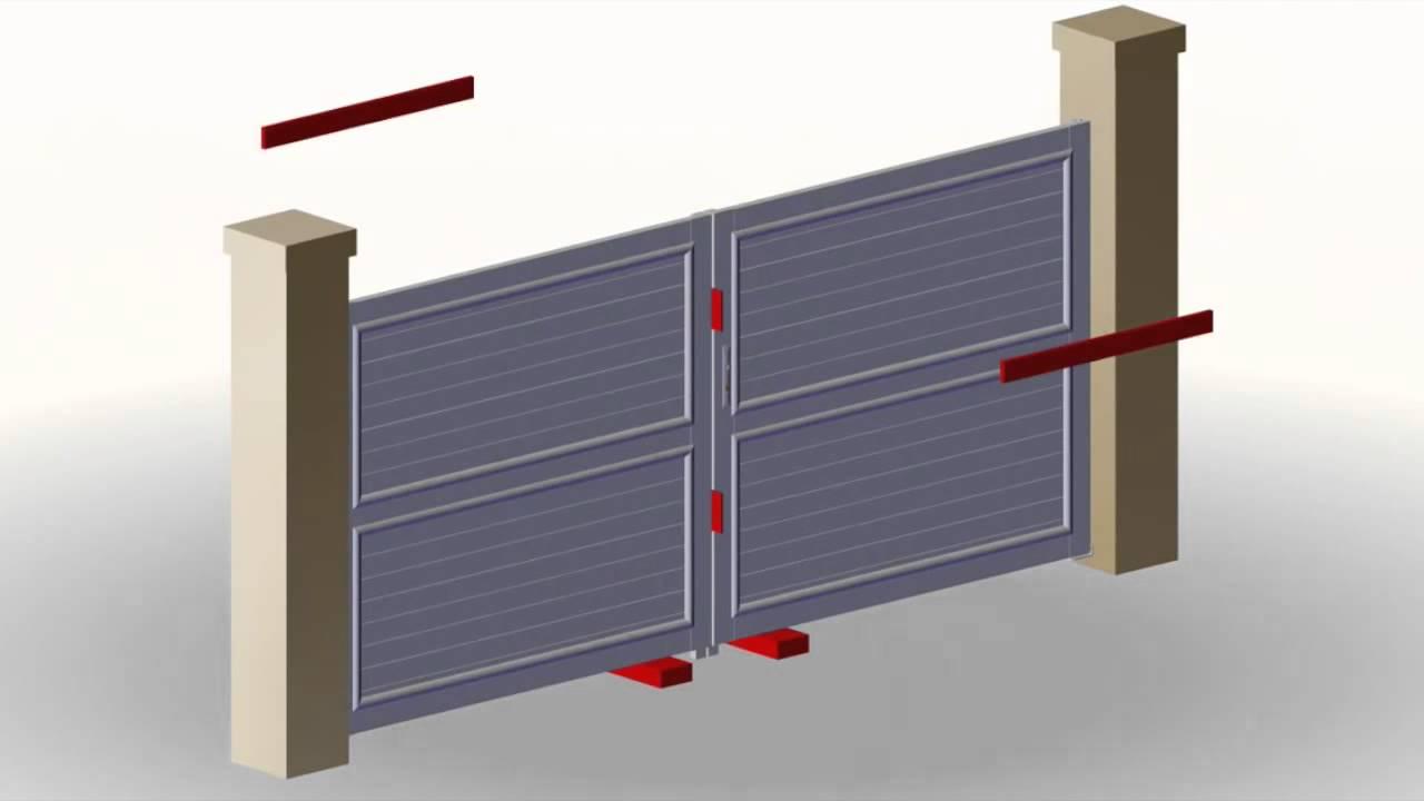Instalaci n puerta doble hoja youtube - Puertas doble hoja ...