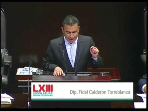 Dip. Fidel Calderón (MORENA) - Ley de Ingresos 2018 (En Contra)