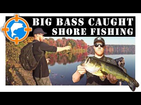 Big Bass Caught While Shore Fishing • Sudbury Reservoir, MA