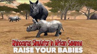 🦏Rhinoceros Simulator In African Savanna-Симулятор Носорога В Африканской Саванне-IOS/Android