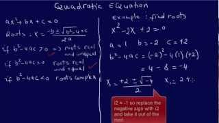 QUADRATIC EQUATION: EIT/FE Exam Review: