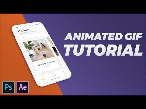 Animated GIF with Perspective Mock-up in Photoshop & After Effects CC 2018 [Tutorial]