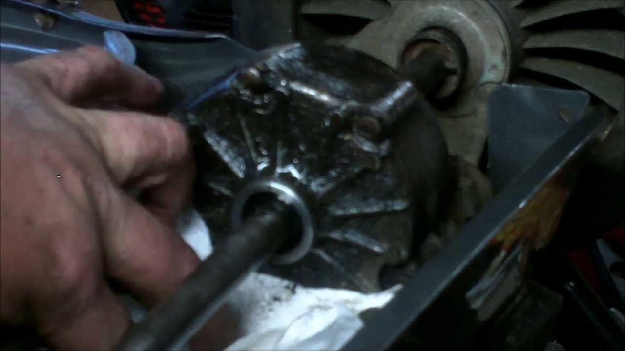 replace leaking transmission seals   honda hrc commercial mower youtube