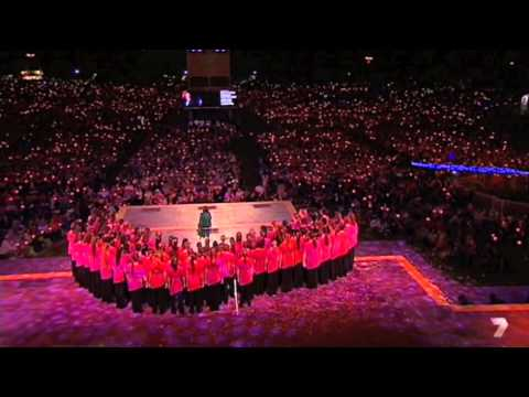 Australian Girls Choir - Carols in the Domain, Sydney, 2014